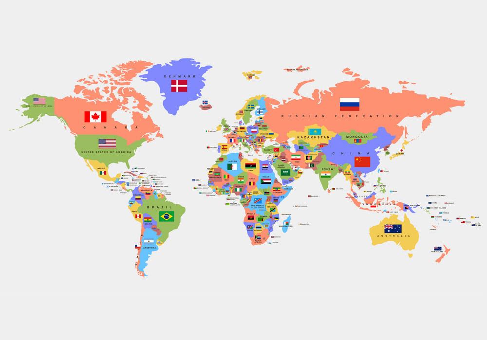 Tên các nước trên thế giới bằng tiếng anh bạn chắc chắn phải biết