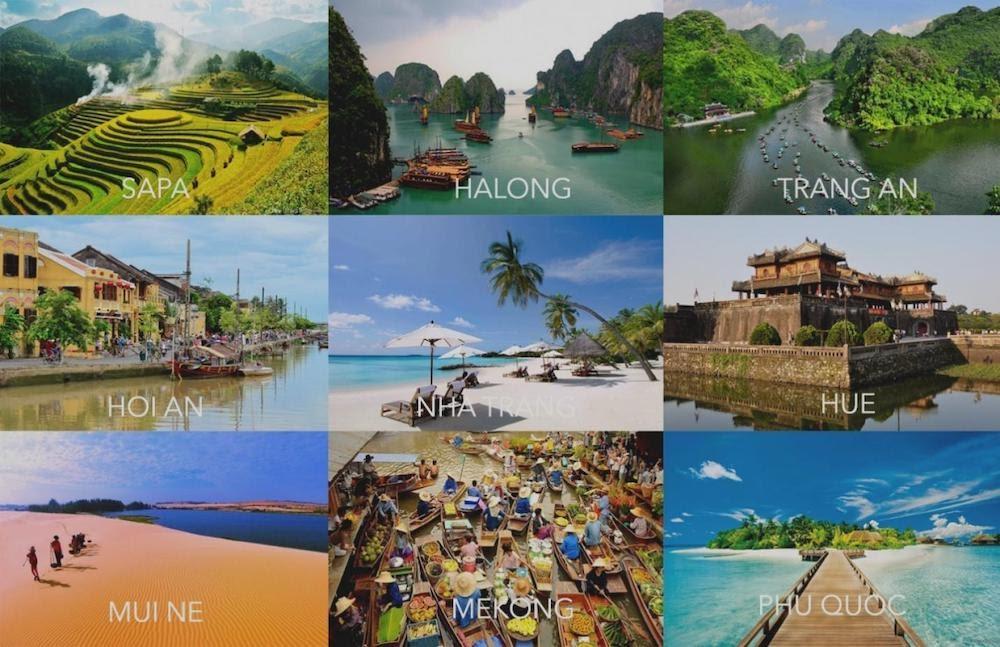 Bạn có thể bắt đầu bằng chủ đề các địa điểm du lịch nổi tiếng tại Việt Nam