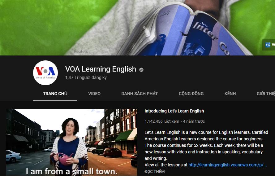 Kênh Youtube VOA Learning English