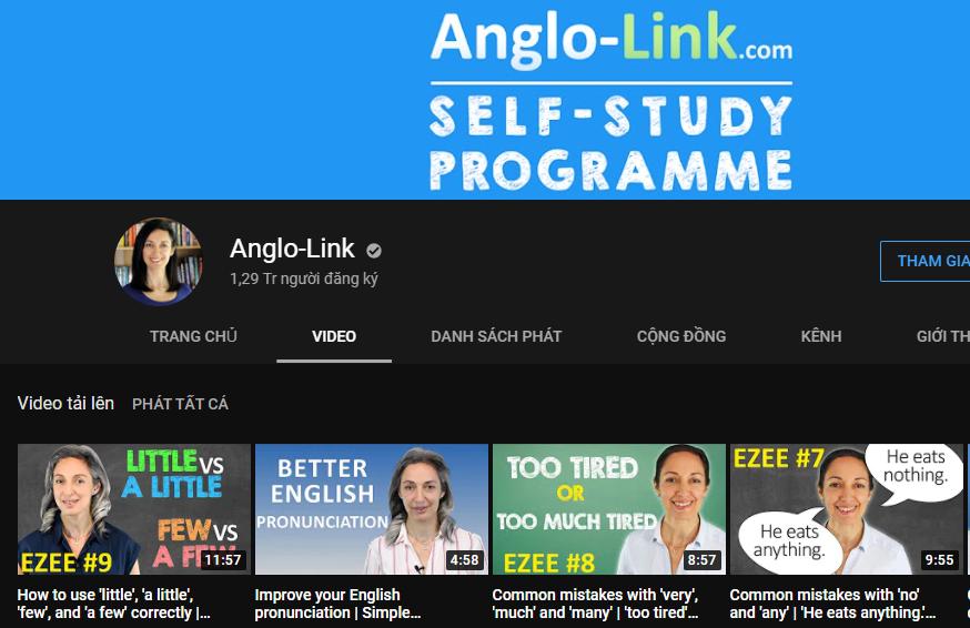 Kênh Youtube Anglo Link