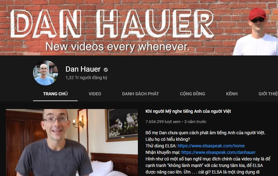 Kênh Youtube Dan Hauer