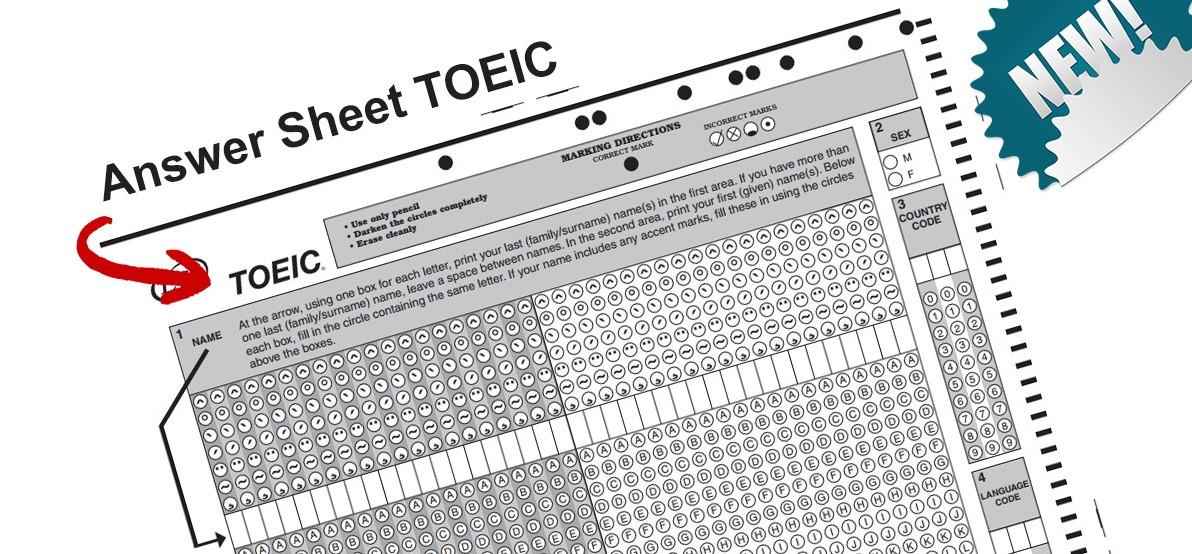 Answer Sheet TOEIC - mẫu phiếu trả lời 2020