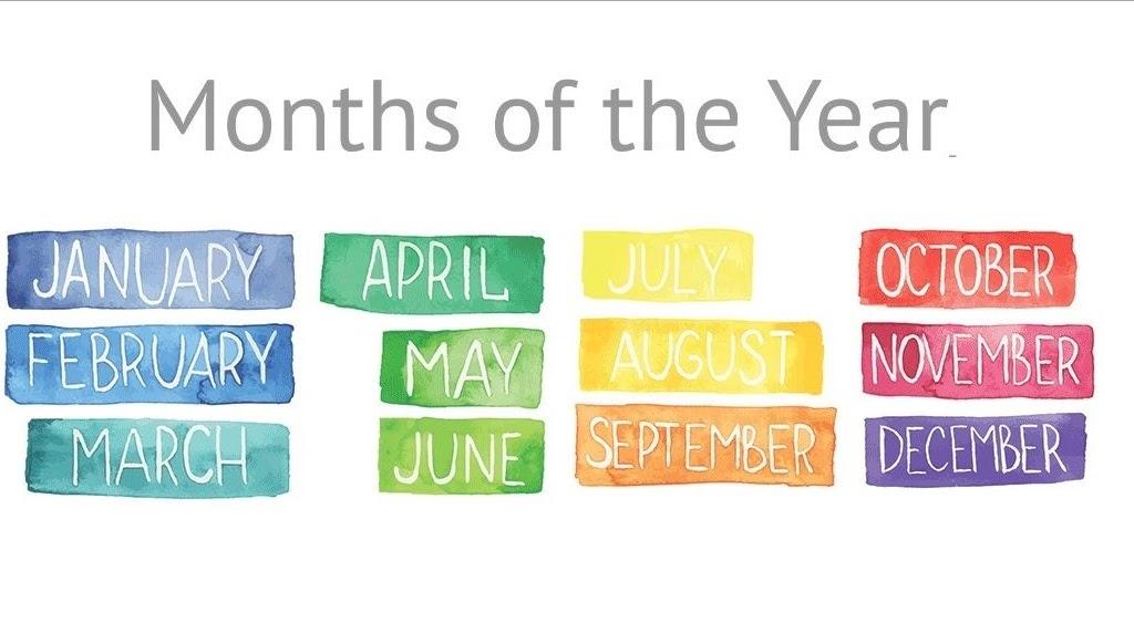 Từ vựng tiếng Anh về tháng
