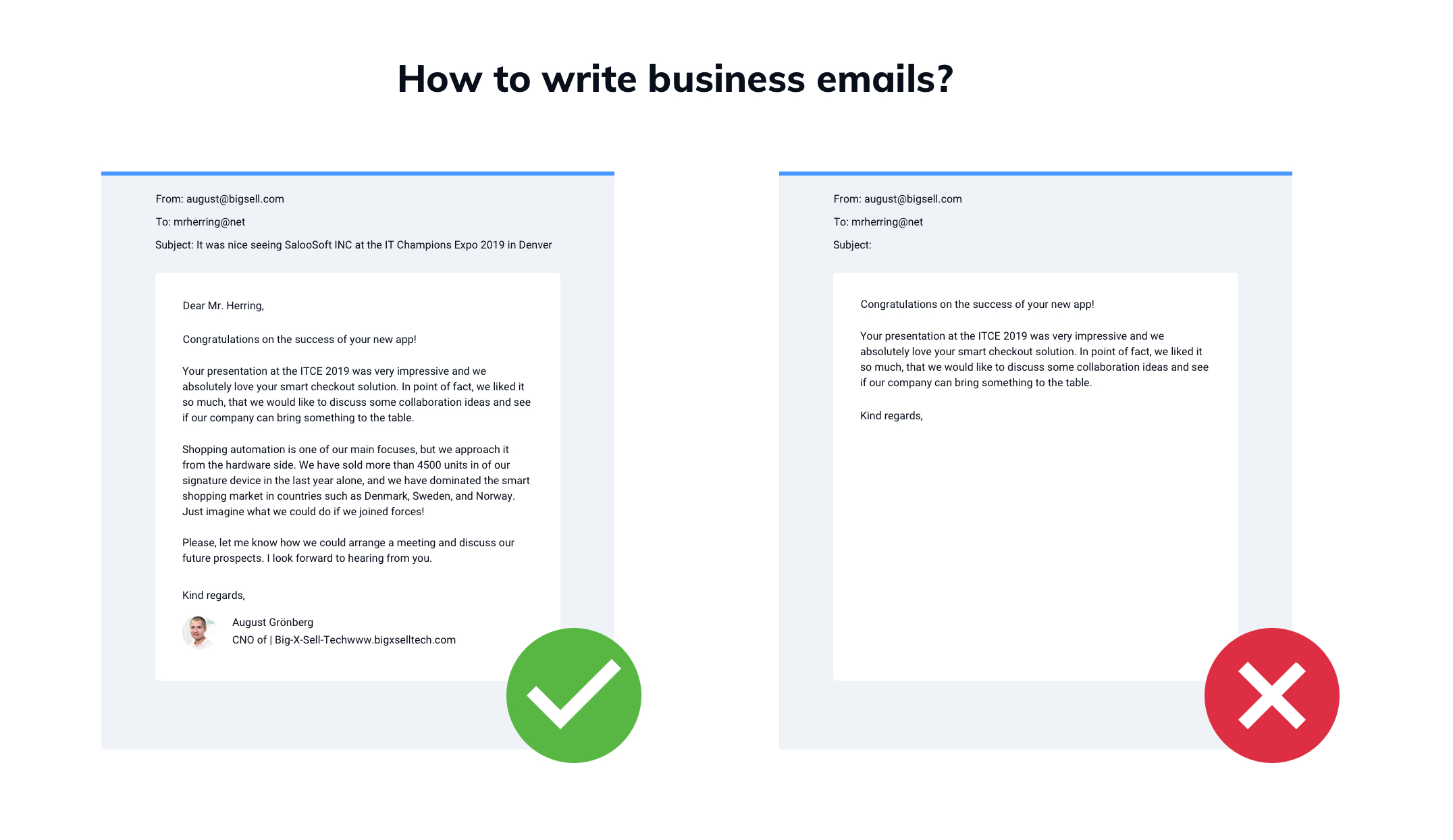 How to write business emails?