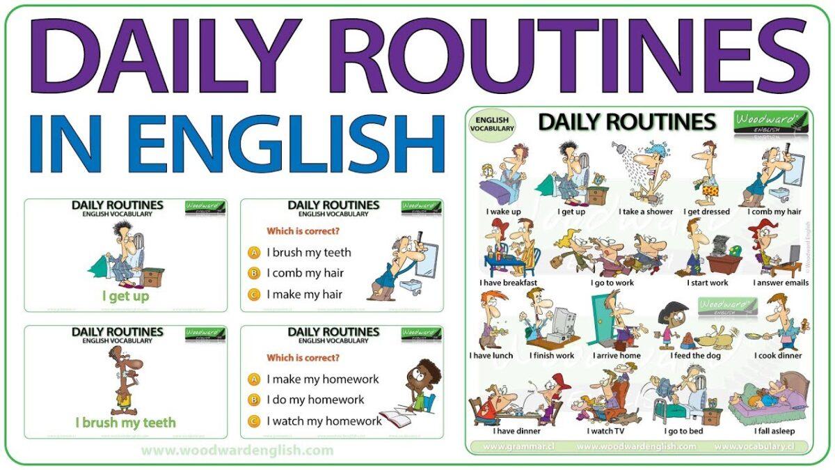 Từ vựng Tiếng Anh về hoạt động thường ngày