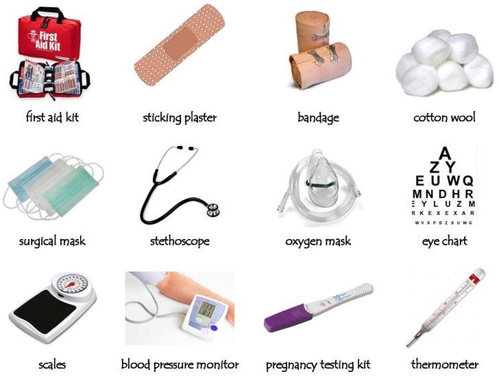 Từ vựng về dụng cụ y tế