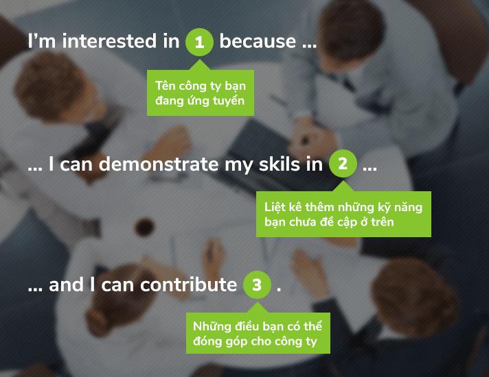 Cách trả lời cụ thể đối với ứng viên chưa có kinh nghiệm ở tương lai