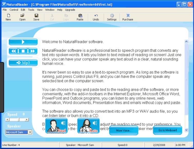 Phần mềm Free Natural Reader